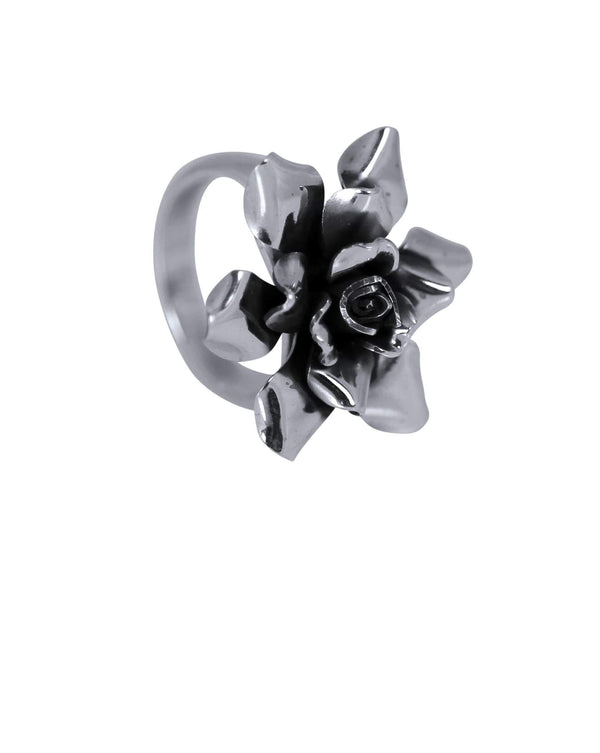 Silver Rose Ring - Agora Jewellery London