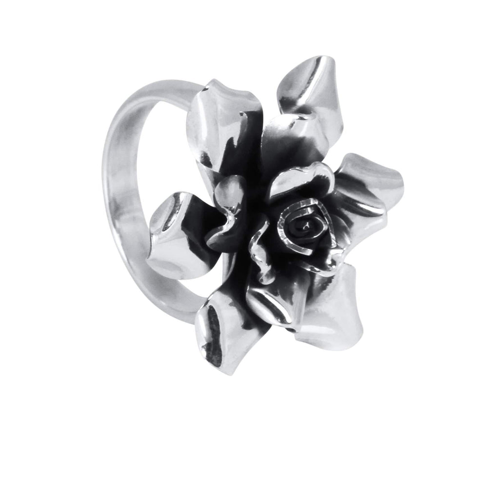 Agora Jewellery London Rings Silver Rose Ring