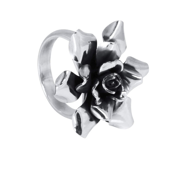 Silver Rose Ring - AG Agora Jewellery London