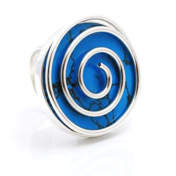 Silver Spiral Ring - Agora Jewellery London