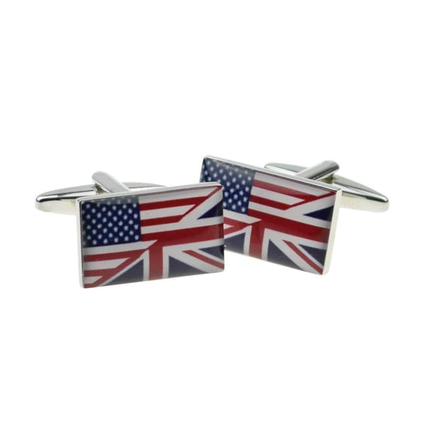 Union Jack Flag Cufflinks - Agora Jewellery London