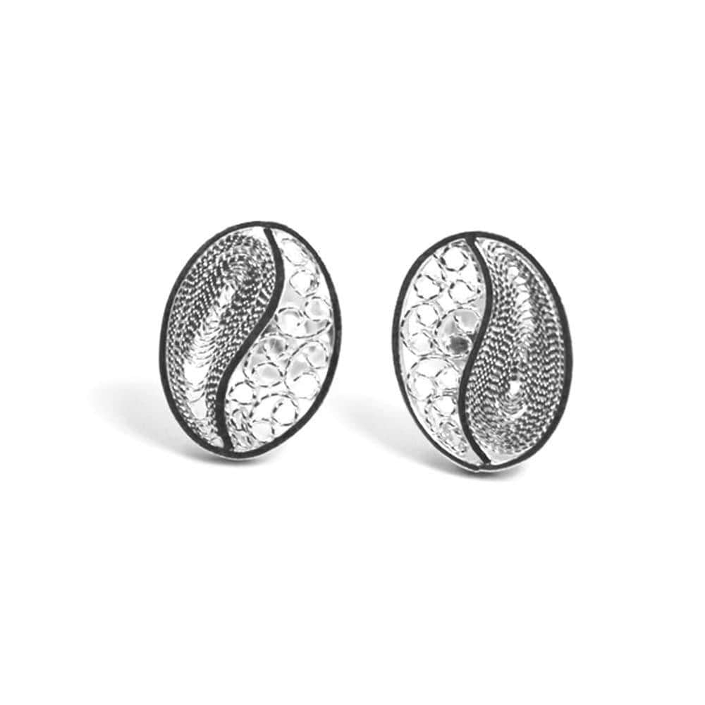 Filigree Coffee Earrings - Agora Jewellery London