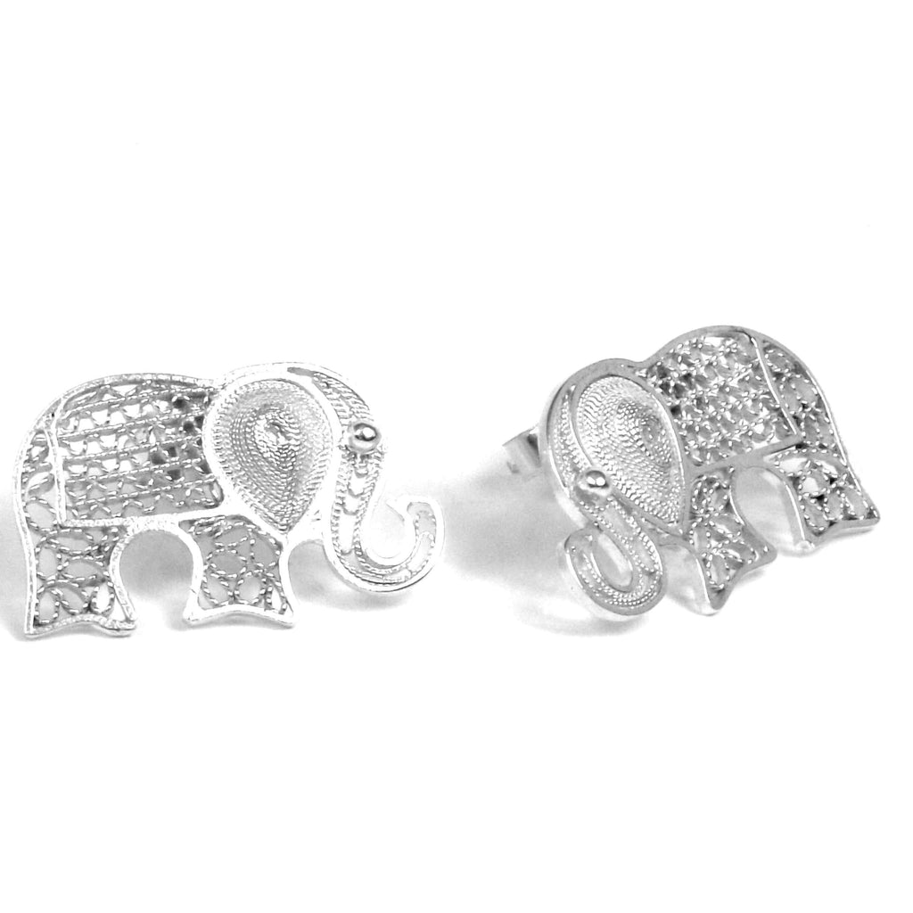 Agora Jewellery Ltd Earrings Filigree Elephant Earrings