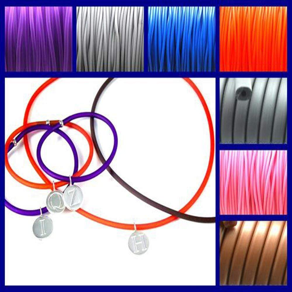 PVC Cord Necklace - Agora Jewellery London