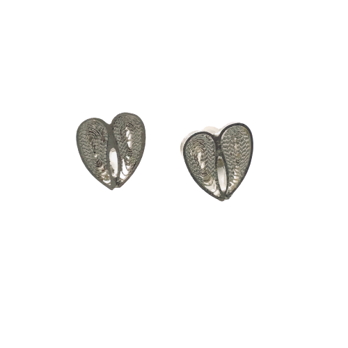 Small Filigree Heart Earrings - Agora Jewellery London