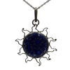 Sterling Silver Blue Sun Pendant - Agora Jewellery London