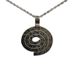 Sterling Silver Spiral Pendant - Agora Jewellery London