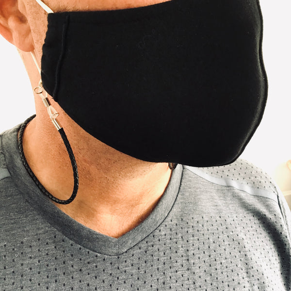 Face Mask Chain - Leather
