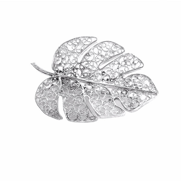 Filigree Split Leaf Brooch