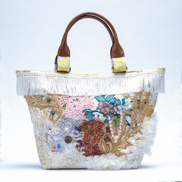 White background Fujigara tote bag No.002