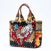 JAKUCHU chicken embroidery bag No. 001