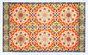 Tang flower pattern mat Large size