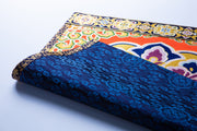 Red jewelry Flower Patten Mat blue flower  Small size