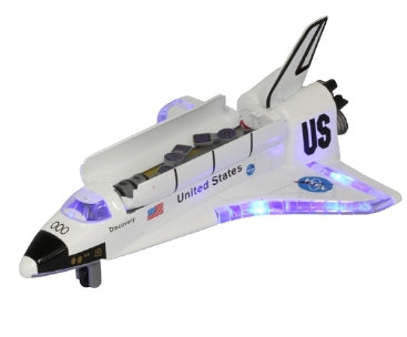 Space shuttle with light and sound