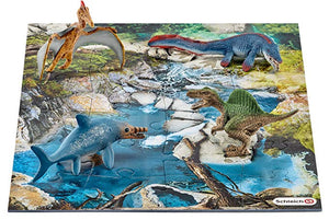 Schleich Dinosaurs water hole gift set with puzzle