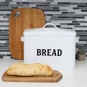 Home Basics Countryside Tin Breadbox, White CASE PACK OF 4