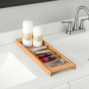 Home Basics Bamboo Vanity Tray CASE PACK OF 6
