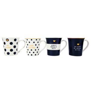 Home Basics Happiness Collection Bone China 12 oz. Novelty Mug