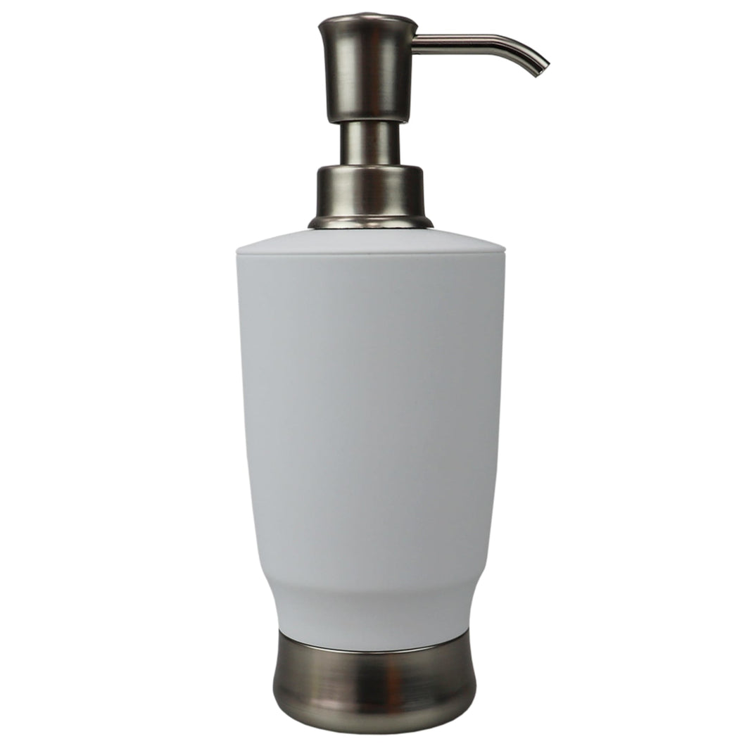 Home Basics Rubberized Plastic Countertop Soap Dispenser, White CASE PACK OF 12