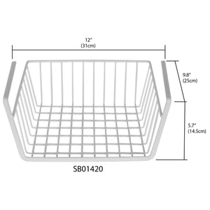 Home Basics Small Under-the-Shelf Basket CASE PACK OF 6