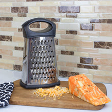 Load image into Gallery viewer, Home Basics 4 Sided Stainless Steel Cheese Grater with Storage Container CASE PACK OF 24