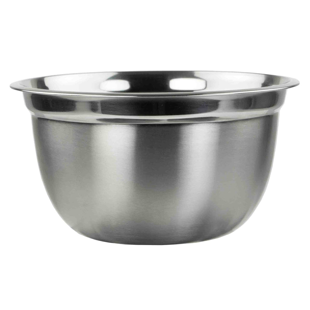Home Basics 3QT. Stainless Steel Beveled Anti-Skid Mixing Bowl, Silver CASE PACK OF 24