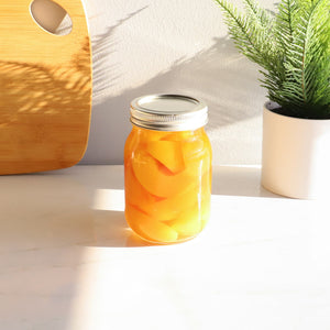 Home Basics 16 oz. Wide Mouth Clear Mason Canning Jar CASE PACK OF 12