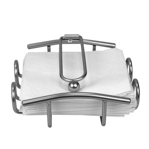 Home Basics Simplicity Collection Flat Napkin Holder with Weighted Pivoting Arm, Satin Nickel CASE PACK OF 12