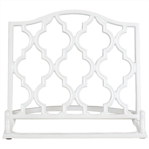 Home Basics Lattice Collection Cast Iron Non-Skid Reading Rest Cookbook Holder, White CASE PACK OF 4