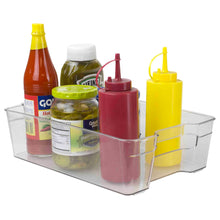 Load image into Gallery viewer, Home Basics Multi-Purpose Plastic Fridge Bin, Clear CASE PACK OF 12