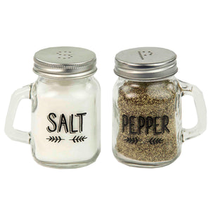 Home Basics Salt and Pepper Mason Jar Set CASE PACK OF 24