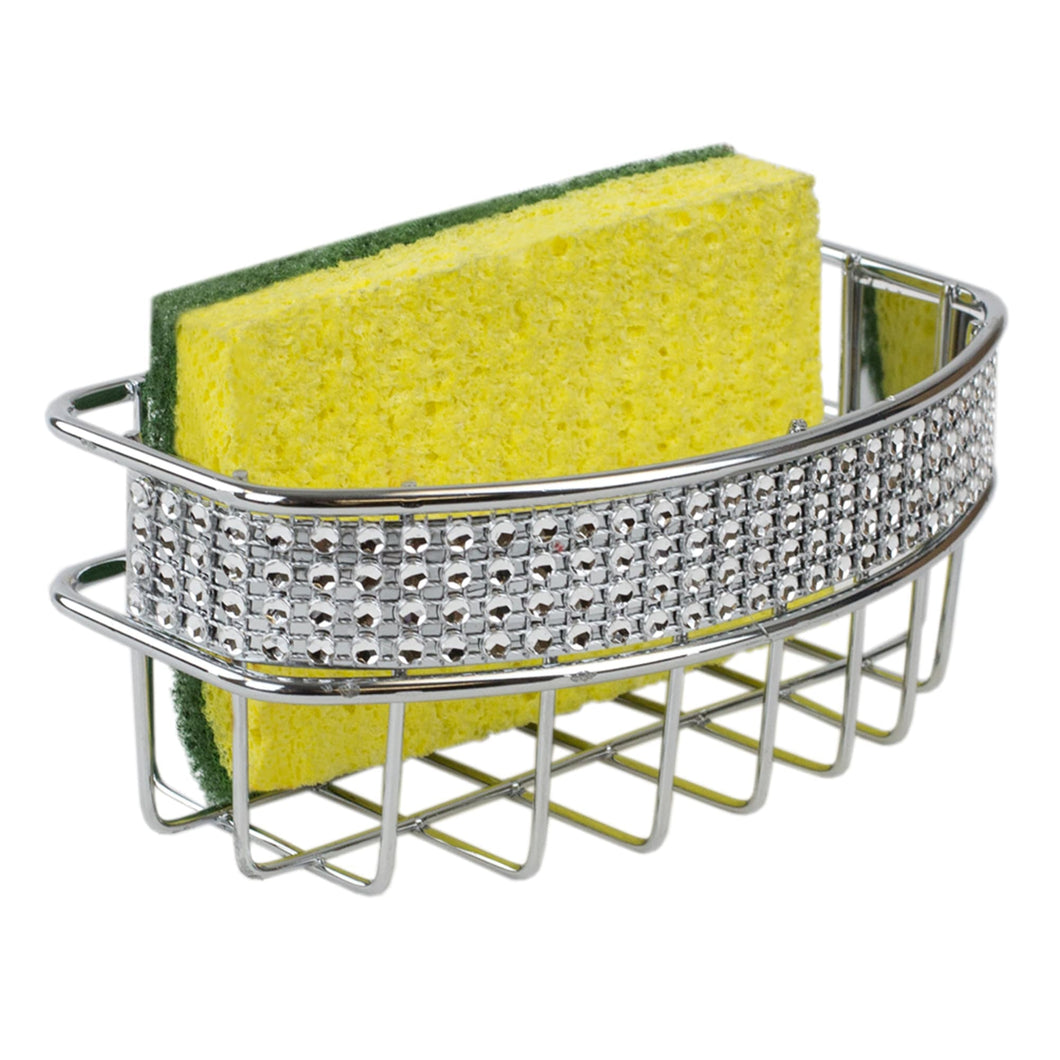 Home Basics Sponge Holder, Chrome CASE PACK OF 12