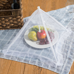 Home Basics  Square Mesh Collapsible Food Plate Cover, White CASE PACK OF 24