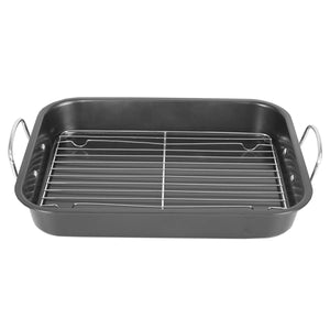 Home Basics Roast Pan with Grill Rack, Grey CASE PACK OF 6
