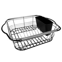 Load image into Gallery viewer, Home Basics Expandable Over the Sink Steel Wire Dish Rack with Coated Handles, Chrome CASE PACK OF 6