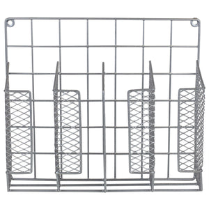 Home Basics Over the Cabinet Vinyl Coated Steel Wrap Organizer, Silver CASE PACK OF 6