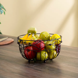 Home Basics Arbor Collection Large Capacity Decorative Non-Skid Steel Fruit Bowl, Oil Rubbed Bronze CASE PACK OF 12