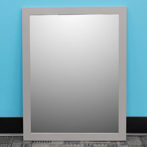 "Home Basics Framed Painted MDF 18"" x 24"" Wall Mirror, Grey CASE PACK OF 6"