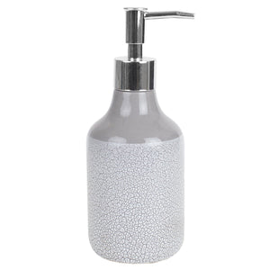 Home Basics Crackle 4 Piece Ceramic Bath Accessory Set, Grey CASE PACK OF 12