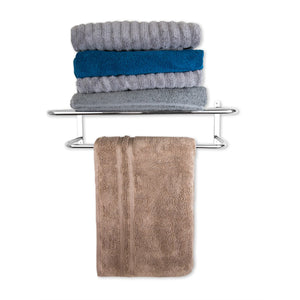 Home Basics Wall Mounted Bath Shelf with Towel Bar CASE PACK OF 6