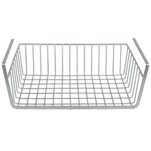 Load image into Gallery viewer, Home Basics Large Under Shelf Vinyl Coated Steel Basket, Silver CASE PACK OF 6