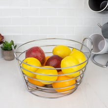 Load image into Gallery viewer, Home Basics Simplicity Collection Fruit Basket, Satin Chrome CASE PACK OF 12