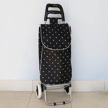 Load image into Gallery viewer, Home Basics Polka Dot Multi-Purpose Rolling Cart With Built-In Chair - Assorted Colors