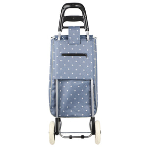 Home Basics Polka Dot Multi-Purpose Rolling Cart With Built-In Chair - Assorted Colors