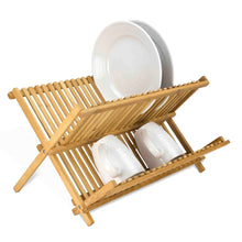 Load image into Gallery viewer, Home Basics Bamboo Foldable Dish Drainer CASE PACK OF 12