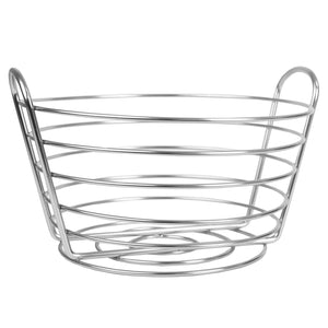 Home Basics Simplicity Collection Fruit Basket, Satin Chrome CASE PACK OF 12