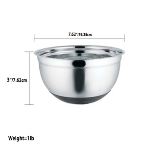 Home Basics Anti-Skid 2.5 Qt Stainless Steel Mixing Bowl CASE PACK OF 12