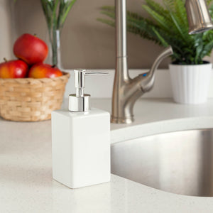 Home Basics Ceramic Soap Dispenser Square