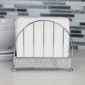 Home Basics Pave Free Standing Steel Napkin Holder, Chrome CASE PACK OF 12