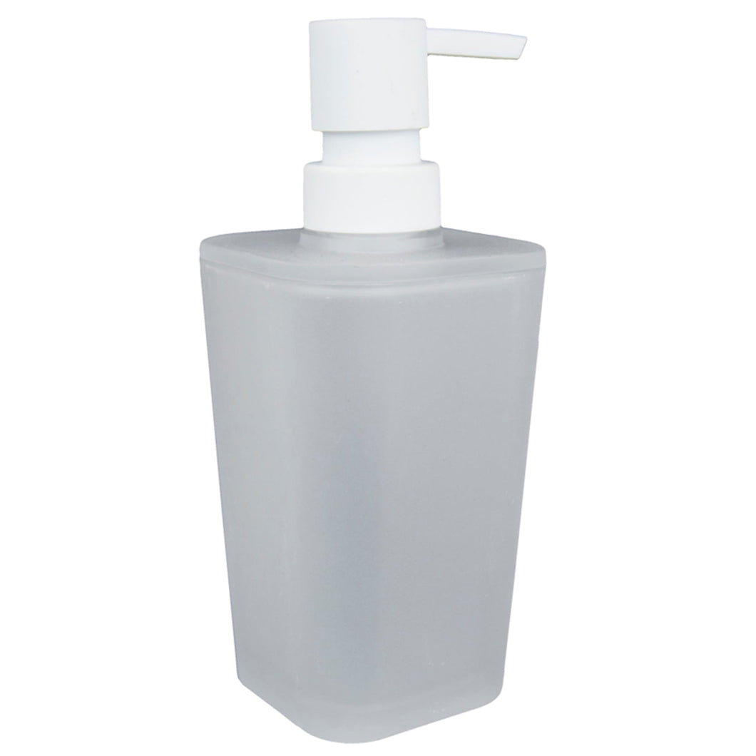 Home Basics Frosted Rubberized Plastic  10 oz. Hand Soap Dispenser with Plastic Pump CASE PACK OF 12